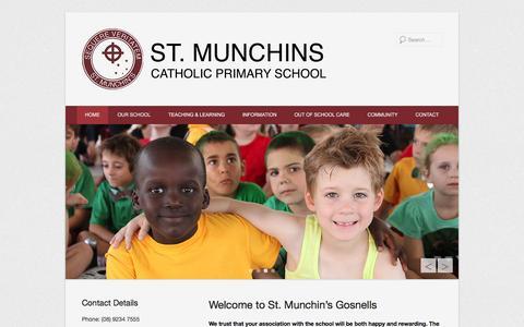 Screenshot of Menu Page stmunchins.wa.edu.au - St Munchin's Gosnells - captured June 14, 2016
