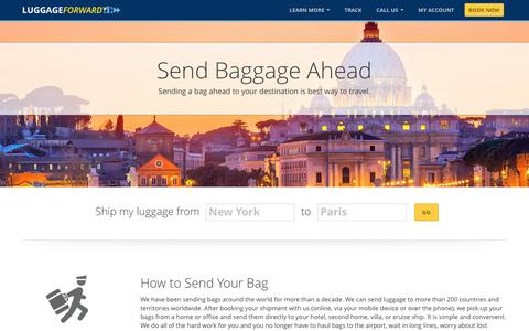 Send Baggage Ahead | Send Your Bags | Send Bags