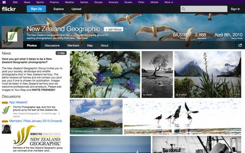 Screenshot of Flickr Page flickr.com - Flickr: The New Zealand Geographic Pool - captured Oct. 23, 2014