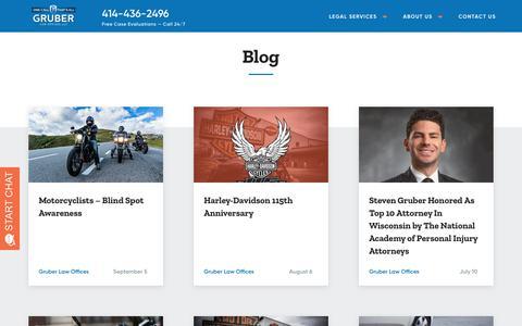 Screenshot of Blog gruber-law.com - Blog - Gruber Law Offices - captured Sept. 30, 2018