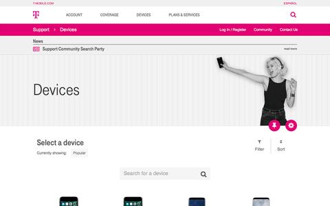 Devices | T-Mobile Support