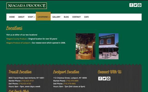 Screenshot of Locations Page niagaraproduce.com - Locations - Niagara Produce - captured Nov. 30, 2016