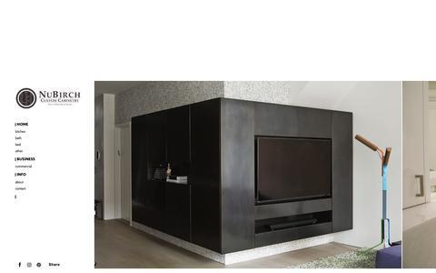 Screenshot of Home Page nubirch.com - New York's Top Custom Cabinetry Manufacturer - NuBirch - captured Oct. 20, 2018