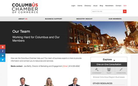 Screenshot of Team Page columbus.org - Our Team | Columbus Chamber of Commerce - captured Aug. 17, 2017