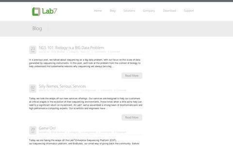Screenshot of Blog lab7.io - Blog - Lab7 - captured July 19, 2014