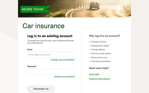 MORE TH>N Car Insurance