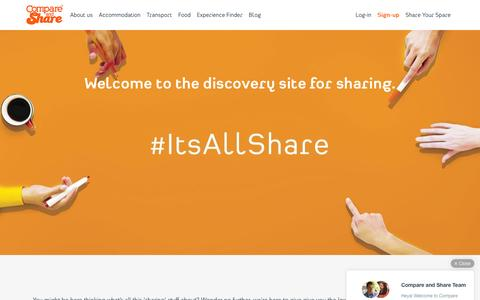 Screenshot of About Page compareandshare.com - About us - Compare and Share - captured Dec. 4, 2015