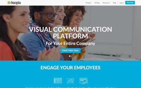 Screenshot of Home Page hoopla.net - Visual Communication   Hoopla TV - captured Oct. 1, 2015