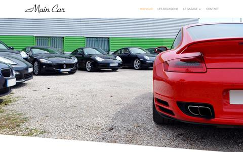 Screenshot of Home Page main-car.com - Main car spécialiste véhicule luxe occasion - Main Car - captured Oct. 28, 2018
