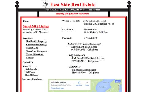 Screenshot of Contact Page eastsidesells.com - East Side Real Estate Contacts - captured Oct. 1, 2014