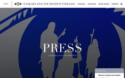 Screenshot of Press Page sankaraeye.com - Press - Sankara Eye - captured Nov. 12, 2018