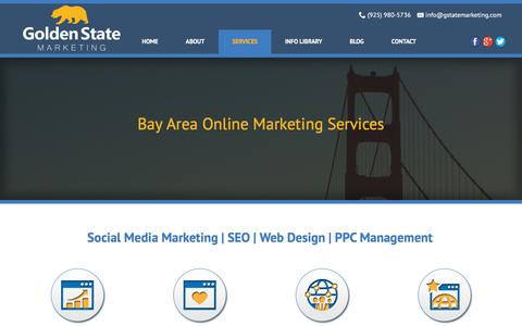 Screenshot of Services Page gstatemarketing.com - Bay Area Digital Marketing Services: SEO | Social Media | PPC - captured Jan. 31, 2016
