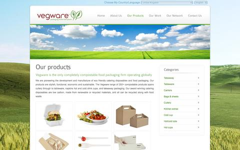 Screenshot of Products Page vegwareglobal.com - Vegware Global - Our products - captured Jan. 4, 2017