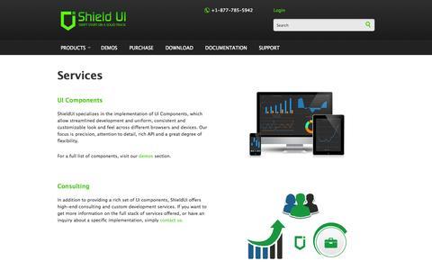 Screenshot of Services Page shieldui.com - Services | Shield UI - captured Sept. 25, 2014