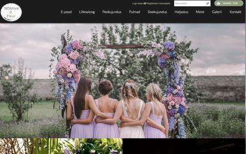Screenshot of Home Page decoration.ee - Decoration & Fleur - captured Nov. 24, 2016
