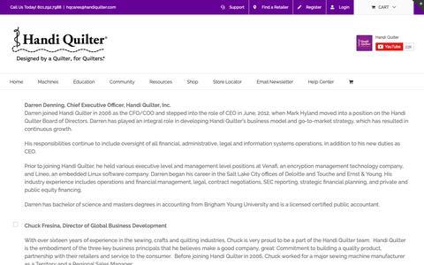Screenshot of Team Page handiquilter.com - Staff - Handi Quilter - captured Dec. 12, 2018