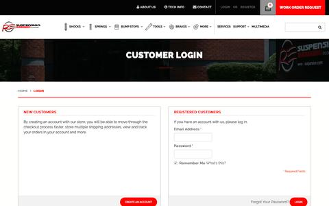 Screenshot of Login Page resuspension.com - Customer Login - captured Nov. 15, 2018