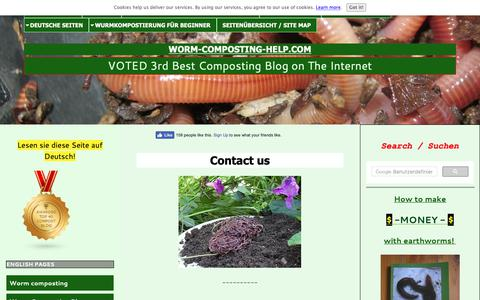 Screenshot of Contact Page worm-composting-help.com - Contact us - captured Oct. 19, 2018