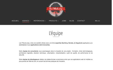 Screenshot of Team Page les-tilleuls.coop - L'agence : l'équipe - Les-Tilleuls.coop - captured Nov. 6, 2016