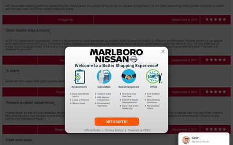 Screenshot of Testimonials Page marlboronissan.com - Customer Reviews, Testimonials - Marlboro Nissan - captured Sept. 20, 2018