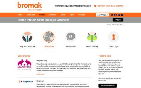 Screenshot of Case Studies Page bromak.com - Case Studies | Bromak - captured Feb. 8, 2016