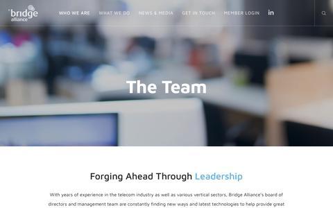 Screenshot of Team Page bridgealliance.com - The Team - Bridge Alliance - captured June 3, 2017
