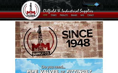 Screenshot of Home Page mmsupply.com - Home - M&M Supply Co. The leader in Oilfield & Industrial Supply since 1948 - captured Nov. 17, 2016