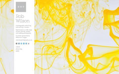 Screenshot of Home Page robwilsoncreative.co.uk - Rob Wilson Photography - captured Sept. 30, 2014