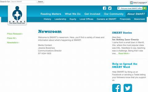Screenshot of Press Page getsmartoregon.org - Newsroom - SMART - captured Oct. 1, 2018