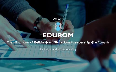 Screenshot of Home Page edurom.ro - Edurom | Home of Belbin and Situational Leadership in Romania - captured July 17, 2015