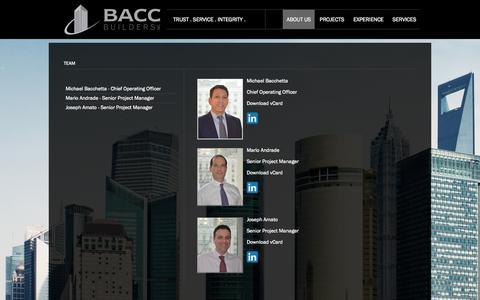 Screenshot of Team Page baccbuilders.com - BACC Builders | Team - captured Sept. 30, 2014