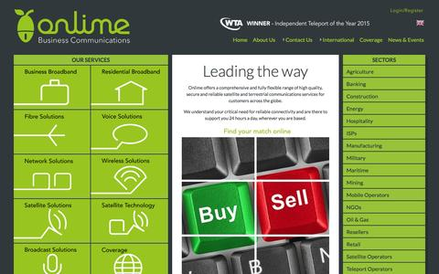 Screenshot of Home Page onlime.sl - Onlime Sierra Leone the new name for Limeline - captured March 1, 2016