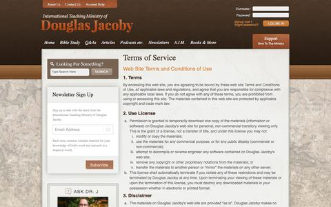 Screenshot of Terms Page douglasjacoby.com - Terms of Service - Douglas Jacoby - captured Feb. 13, 2016