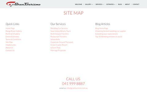 Screenshot of Site Map Page grantourismo.com.au - GranTourismo Range Rover - Site Map - captured Feb. 1, 2016