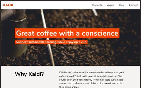 Screenshot of Home Page infotrust.kz - Homepage | Kaldi - captured Oct. 11, 2018