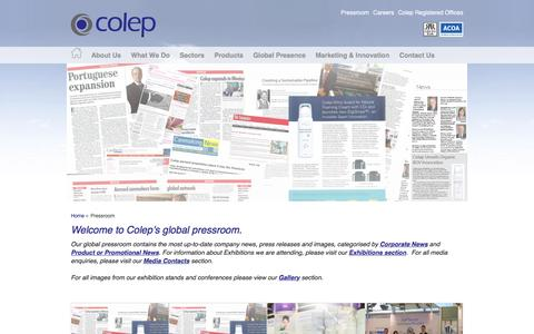 Screenshot of Press Page colep.com - Colep Media and Press Information: Get the latest information | Colep - captured Dec. 5, 2015