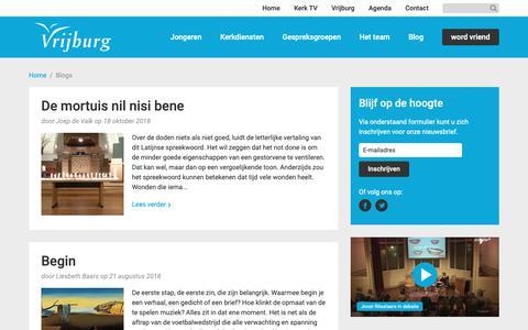 Screenshot of Blog vrijburg.nl - Blogs Archives - Vrijburg - captured Nov. 7, 2018