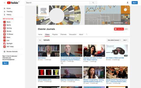 Elsevier Journals  - YouTube