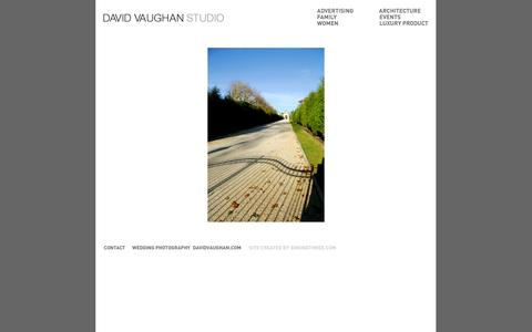 Screenshot of Home Page davidvaughanstudio.com - DAVID VAUGHAN STUDIO - captured Oct. 5, 2014