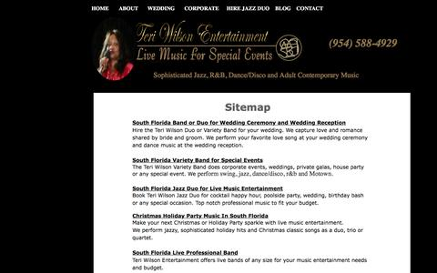 Screenshot of Services Page Site Map Page teriwilsonentertainment.com - Teri Wilson Entertainment - Sitemap to Professional Live Music Service - captured June 17, 2017