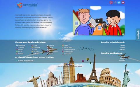 Screenshot of Home Page arambla.com - Arambla marketplace - captured Sept. 11, 2015