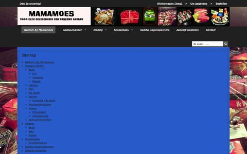 Screenshot of Site Map Page mamamoes.nl - Sitemap | Mamamoes - captured Oct. 6, 2014
