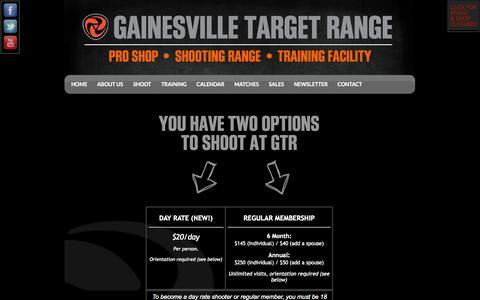 Screenshot of Signup Page gainesvilletargetrange.com - Shoot at GTR - captured Sept. 29, 2014