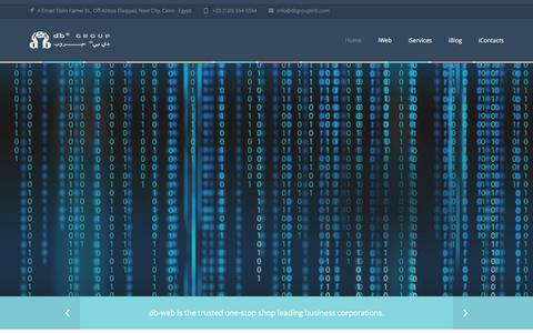Screenshot of Home Page db-web.com - db-web Solutions, creative IT solutions company Based in Egypt - captured March 3, 2016
