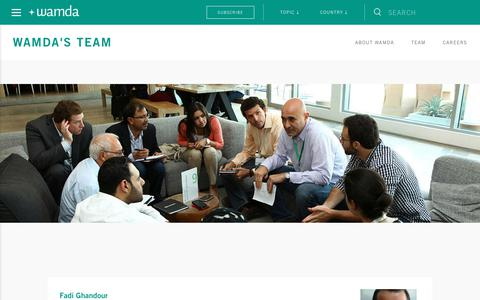 Screenshot of Team Page wamda.com - Inspiring, empowering and connecting entrepreneurs | Wamda.com - captured June 17, 2017