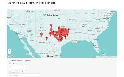 Screenshot of Maps & Directions Page grapevineontap.com - Grapevine Craft Brewery | Beer Finder - captured Sept. 26, 2015
