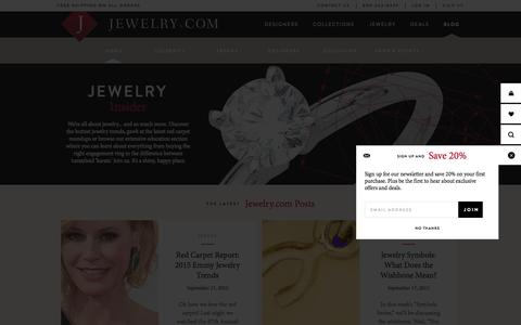 Screenshot of Blog jewelry.com - Home - Jewelry Insider - captured Sept. 24, 2015