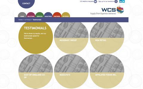 Screenshot of Testimonials Page wwchainstores.com - Testimonials Archives - WCS - captured Oct. 19, 2017
