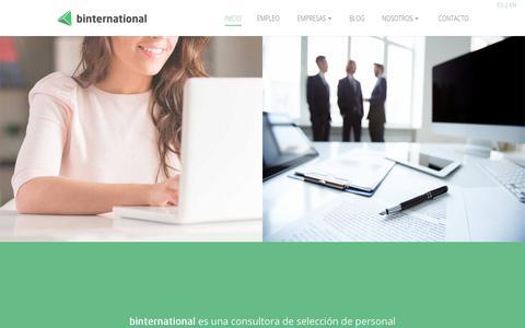 Screenshot of Home Page binternational.net - Consultora de selección de personal internacional | binternational - captured Dec. 9, 2018