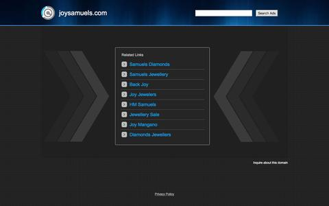 Screenshot of Home Page joysamuels.com - joysamuels.com - captured Nov. 19, 2016
